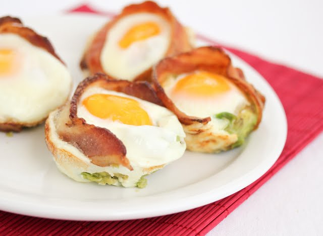 close-up photo of Bacon Avocado Egg Cups