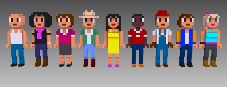 MagicaVoxel voxel people