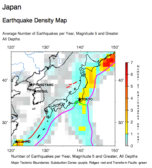 Viable Opposition Explaining Japans Earthquake - Japan map 1500