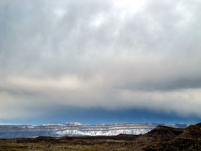 Storm over the snowy Book Cliffs