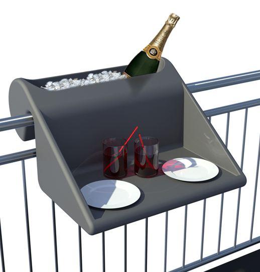 Mesa para barandilla de balcón.