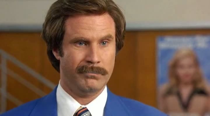Screen Shot Of Hollywood Movie Anchorman: The Legend of Ron Burgundy (2004) In Hindi English Full Movie Free Download And Watch Online at Alldownloads4u.Com