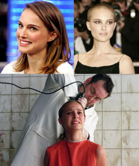 v for vendetta natalie portman shaved. Natalie Portman shaved her