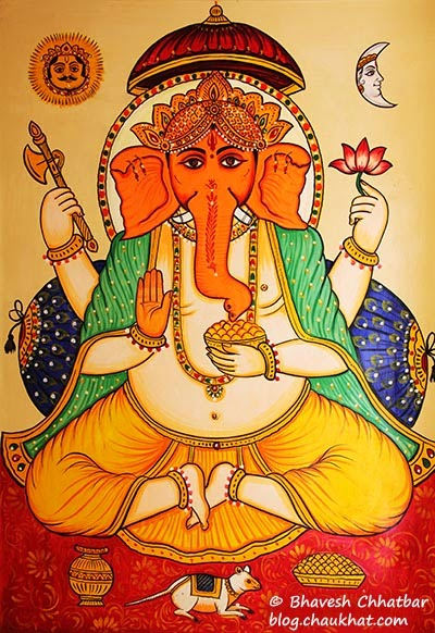 Wall painting of Ganpati
