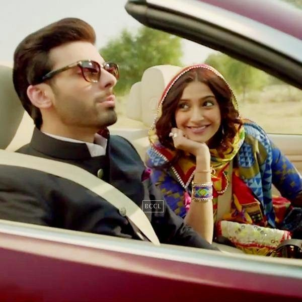 Sonam Kapoor and Fawad Khan in a still from Bollywood film Khoobsurat.