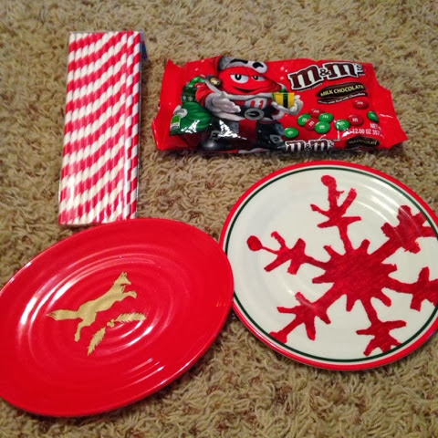 Paper straws-.30 cents M\u0026M\u0027s-.95 cents and these cute plastic plates (love the fox one!)-.29 cents! & Texas Decor: Target 90% off Christmas Deals!
