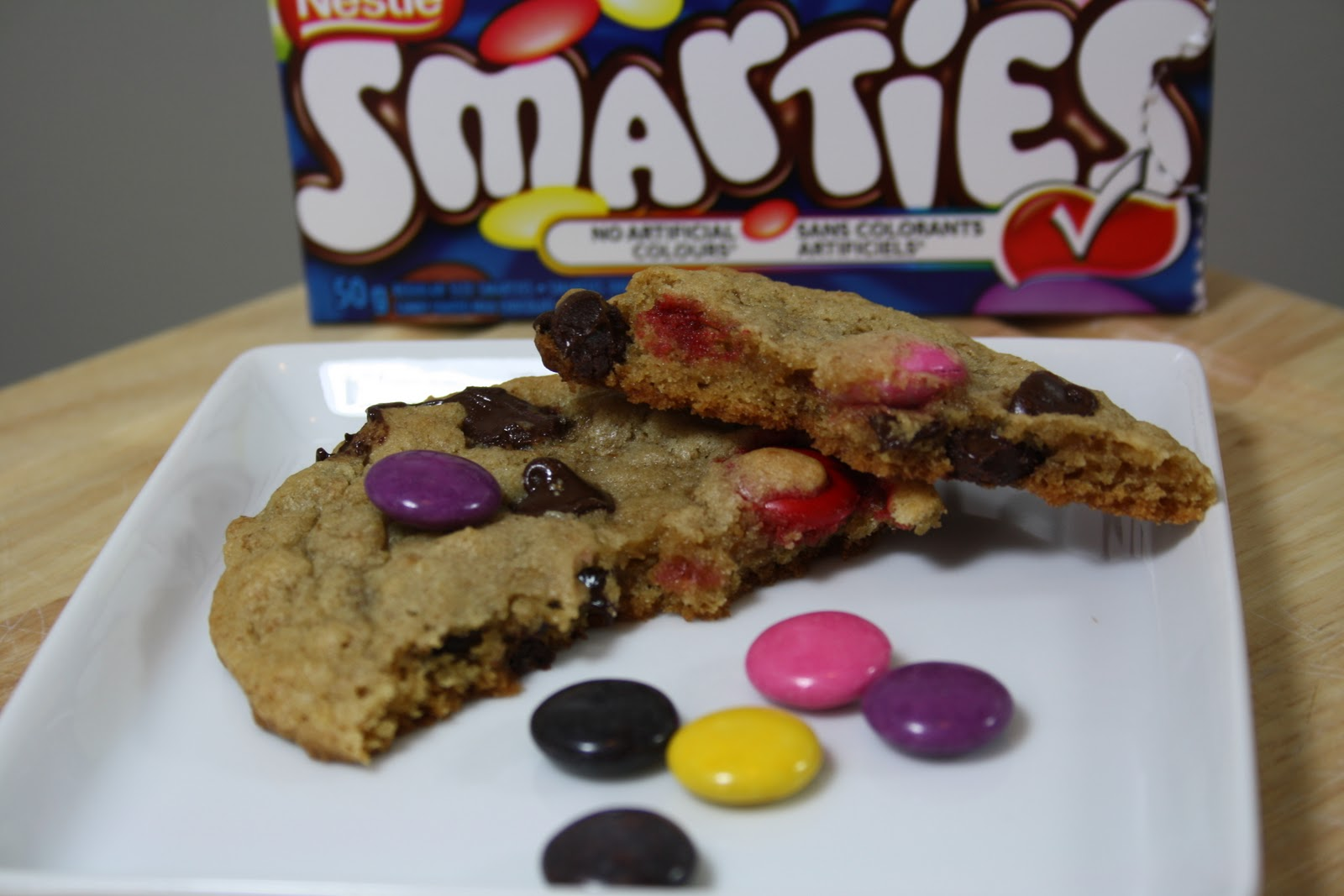 Meals with Michelle: Smartie Chocolate Chip Cookies