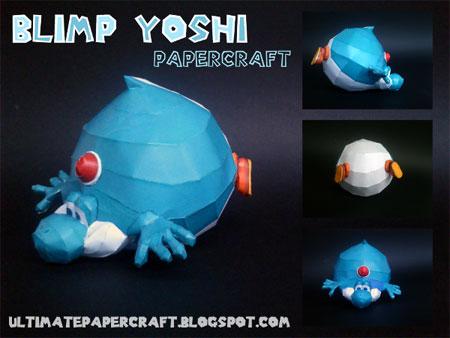 Blimp Yoshi Papercraft
