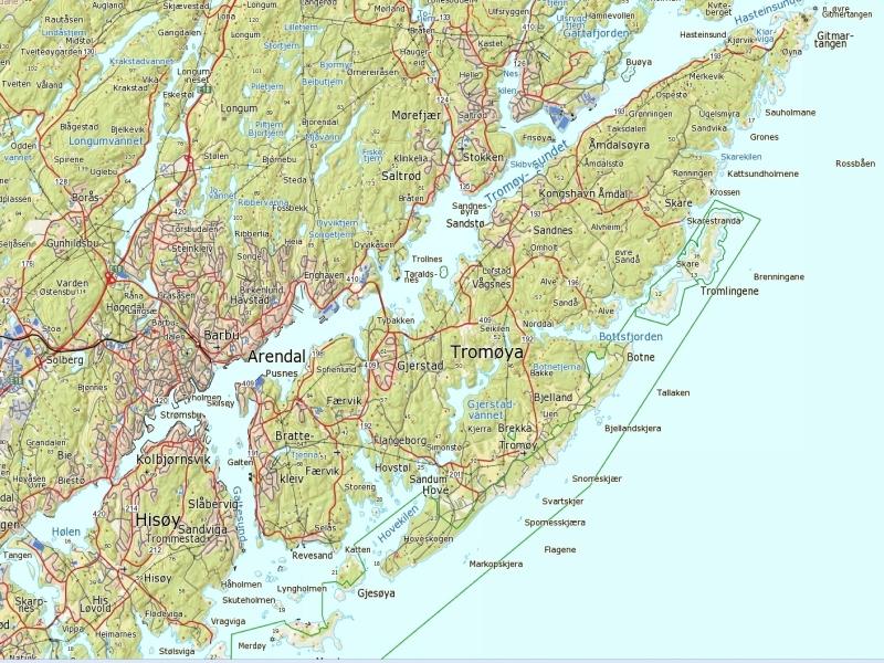 kart lyngør .padleforumet.• View topic   Juli turer 2012 kart lyngør