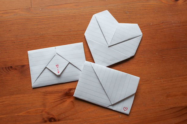 How To Write Cool Letters On Paper How To Fold Origami Notes For Valentines Day Like You Did In Junior