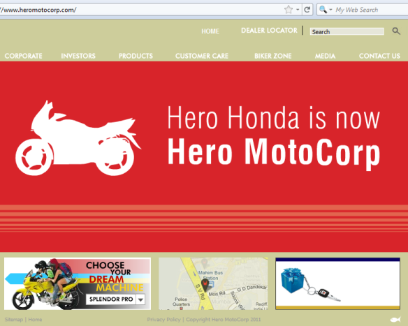 Hero Honda is now Hero MotoCorp