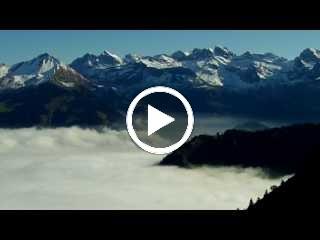 Wanderweg vom Stanserhorn über dem Nebelmeer