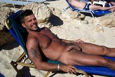 Ricky Martin's huge and long cock