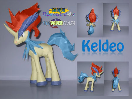 Pokemon Keldeo Papercraft