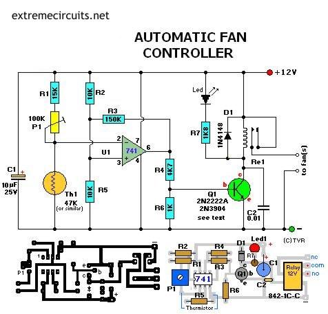 Schema D Un Contr 244 Leur De Ventilateur Automatique A Base