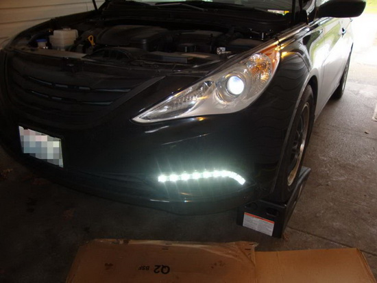DRL LED lights installation 3