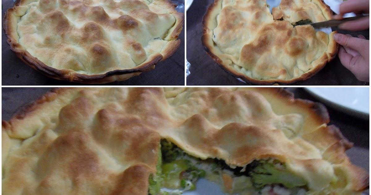 Diana 39 s cook blog tourte aux brocolis courgette et - Cuisiner brocolis surgeles ...