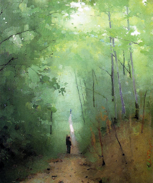 Abbott Handerson Thayer - Landscape at Fontainebleau Forest