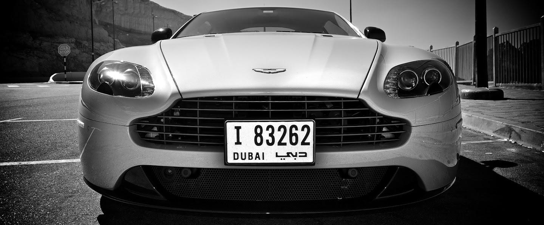 Aston black and white