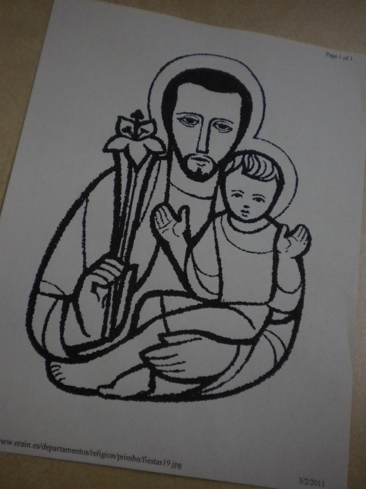 Familia Catlica San Jos Pginas Para Colorear Nios