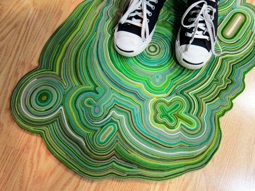 Tapete criativo com feltro