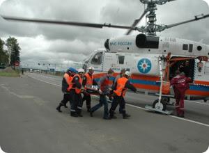 фото Тренировка МЧС с привлечением авиации