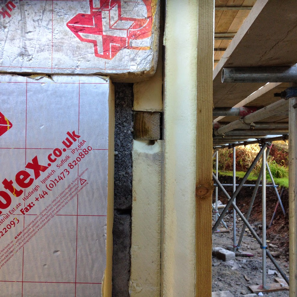 Horizontally and Vertically battened 50mm insulation