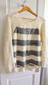 Stitch Fix Sanctuary Rollins Striped Slub Knit Sweater is so comfortably cozy but warm and cute