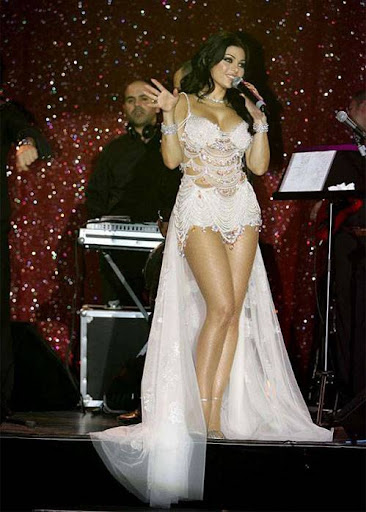 Arab Model Haifaa Wehbe singing