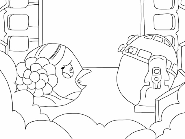 Angry Birds Star Wars Coloring Pages Games