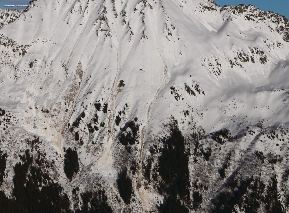 Avalanche Belledonne, secteur Les Grands Moulins, La Perrière - Photo 1