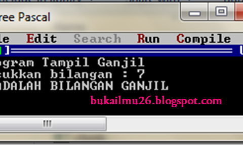 Pascal - Program Tampil Ganjil