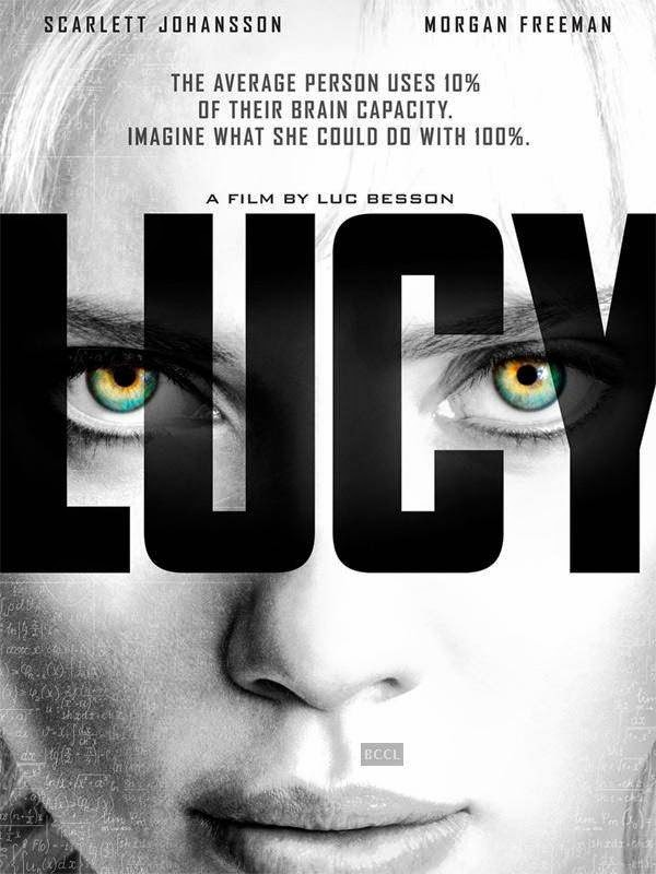 Poster of Hollywood action film Lucy starring Scarlett Johansson.