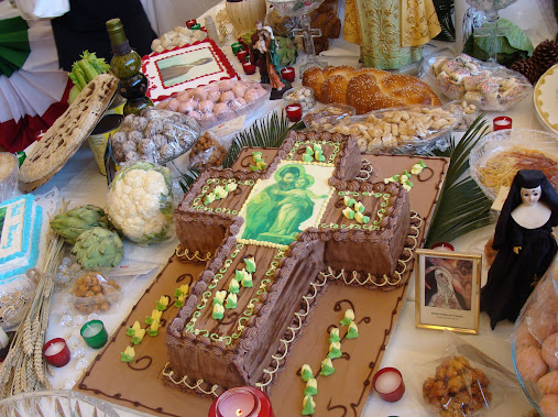 Cake for St Joseph Day altar
