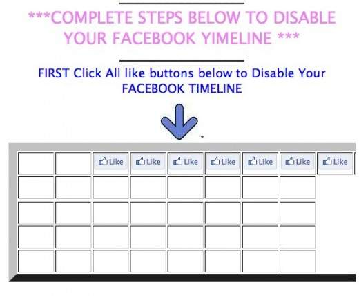 Disable your Facebook Timeline Want to remove Timeline Facebook? Scam Beware!