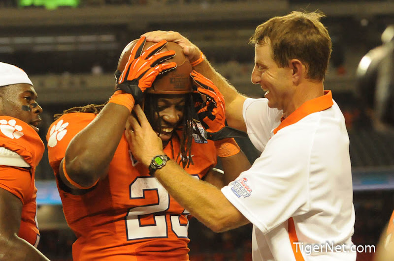 Clemson vs Auburn - Celebration Photos - 2012, Andre Ellington, Auburn, Dabo Swinney, Football