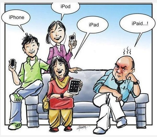 iPhone, iPad, iPod = iPaid