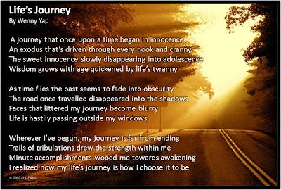 My Poem: Life's Journey ~ Wenny Yap Com