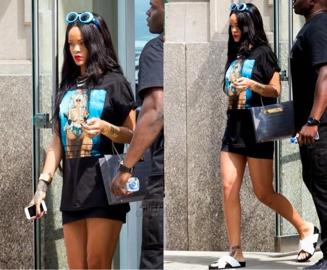 Rihanna in Trapstar, Versace