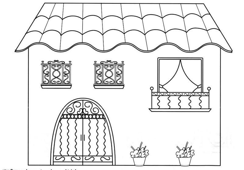 Dibujos para colorear de andalucia la casa infantil - Casa para colorear ...