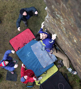 Picasa image: Masters Edge E7 6C - going for the pocket.  Ph nicksmith@climbers.net