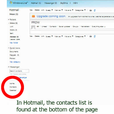How to download all your Hotmail email contact addresses