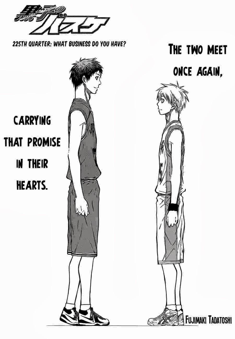 Kuroko no Basket Manga Chapter 225 - Image 01