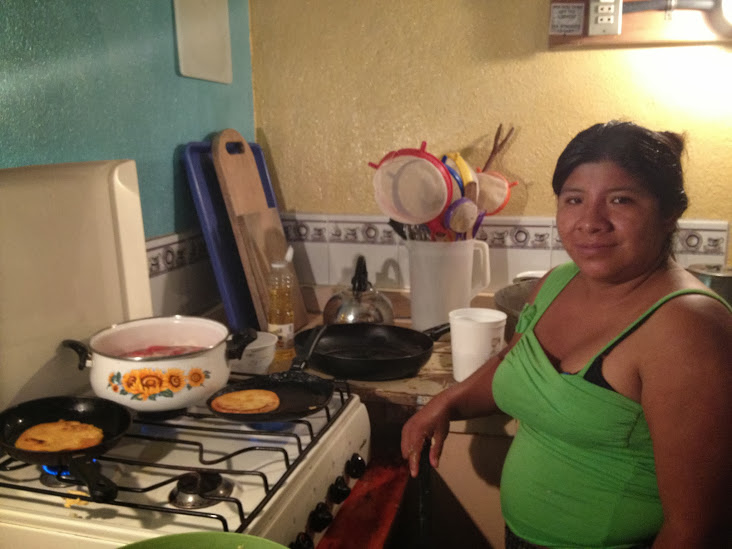 josephina frying pupusas