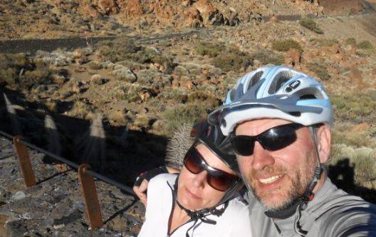 Miri und Chris auf 2300 Metern im Teide-Krater, Teneriffa