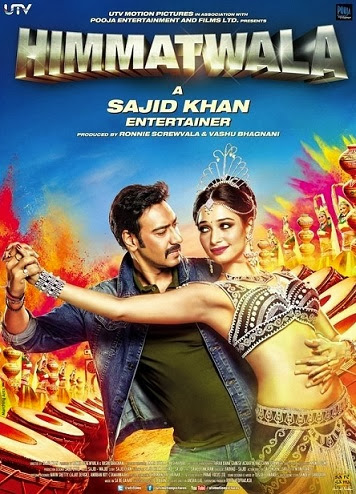 Poster Of Hindi Movie Himmatwala (2013) Free Download Full New Hindi Movie Watch Online At Alldownloads4u.Com