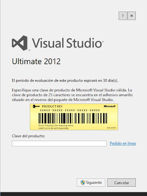 Instalar Microsoft Visual Studio .Net Ultimate 2012 en un equipo con Windows 8