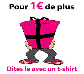 offrez un t-shirt, un cadeau original