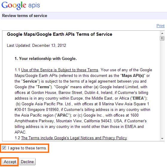 Google Maps Android API v2 Terms