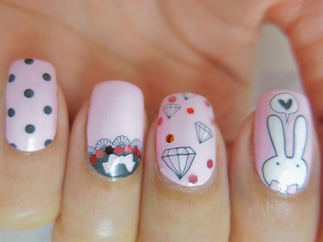 Easter Bunny Nail Wrap Nail Art A1007